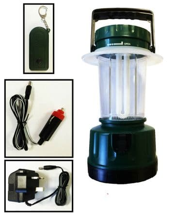 REMOTE CONTROL CAMPING LANTERN TORCH 12v and 3 pin CHARGERS boat fishing caravan